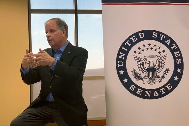 U.S. Sen. Doug Jones reported raising $2 million from July 1 to September 30, more than the combined totals of his major Republican challengers.