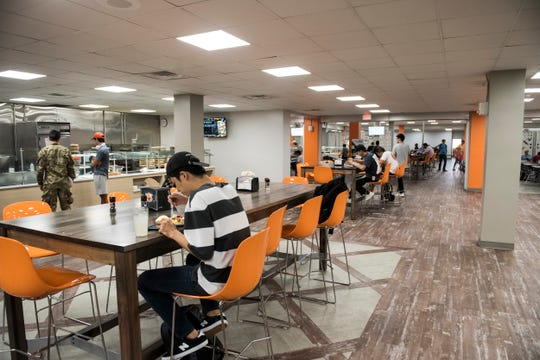 The dining area inside FOY Hall at Auburn University in Auburn, Ala., on Wednesday, Sept. 11, 2019.
