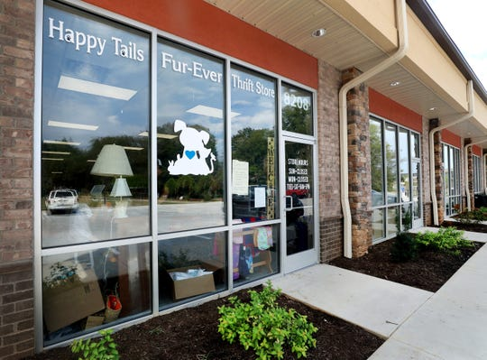 The Happy Tails Fur-Ever Thrift Store gives 100% of its profits to support non-profit animal rescue organizations.