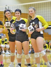 After the District Championship game on Oct. 8, Lady Jackets volleyball team members Neyland Yeager and Ella Ryerson were named All District Regular Season Players.  Neyland Yeager, Ella Ryerson, and Marley Baker were named All-Tournament Team.