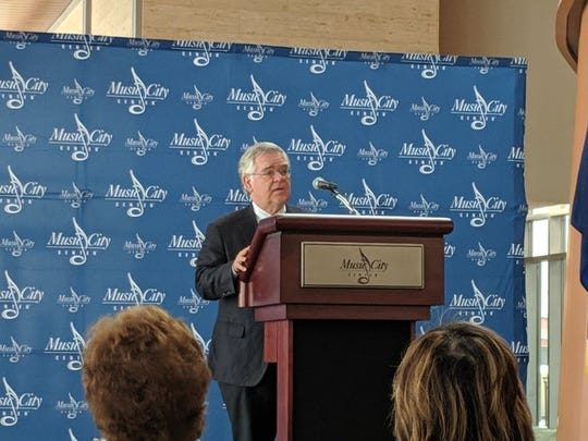 Nashville Mayor John Cooper announces new deal with Music City Center to boost the Metro budget Thursday, Oct. 10, 2019