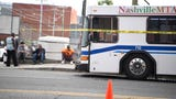 Nashville police spokesman Don Aaron give details into an incident involving an MTA bus that killed a pedestrian Thursday, Oct. 10, in the gulch.