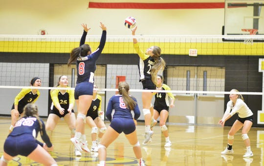 The Fairview Lady Jackets volleyball team battled Creekwood in the District Semi-Finals on Oct. 8, winning after a tough five sets of play.