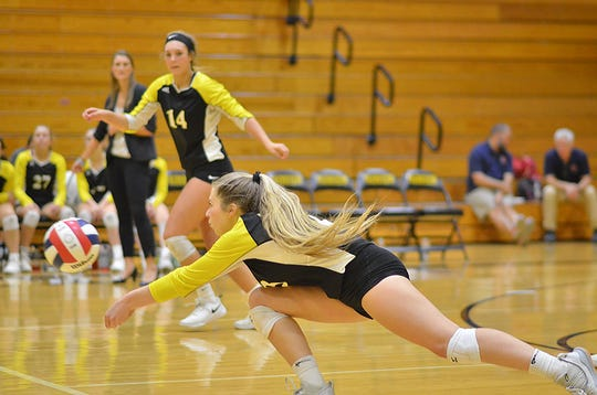The Lady Jackets volleyball team played hard in the District Championship game against Camden on Oct. 8.
