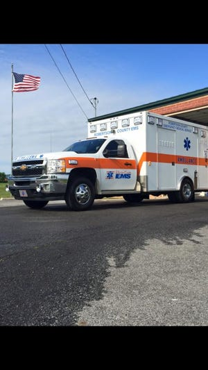 A Robertson County ambulance