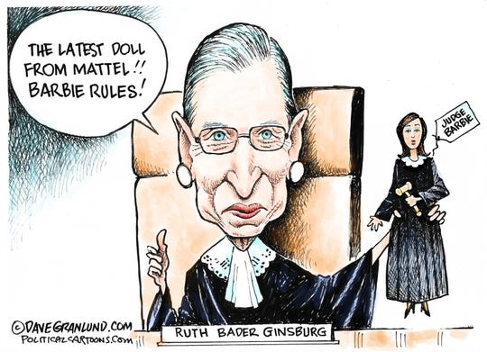 Ruth Bader Ginsburg inspires a Barbie.