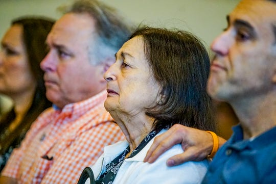 Mary Ann Groves attends the trial for the man, Jimmy Rodgers, accused of killing her daughter, Teresa Sievers. Opening statements from the defense and prosecution in the Jimmy Rodgers trial at the Lee County Justice Center, Fort Myers, FL, October 10, 2019. He is on trial for the murder of Teresa Sievers.