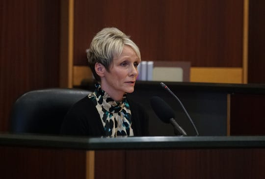 Sandra Hoskins, Medical assistant to Teresa Sievers in 2015, said she contacted Dr. Sievers' husband Mark when the Dr. didn't show up for work the morning she was found dead in her home. Opening statements from the defense and prosecution in the Jimmy Rodgers trial at the Lee County Justice Center, Fort Myers, FL, October 10, 2019. He is on trial for the murder of Teresa Sievers.