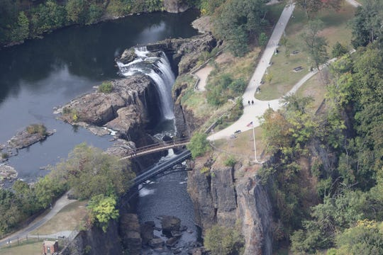 The Great Falls is shown from approximately 3,000 feet above Paterson, from a 1929 Ford Tri-Motor airplane. Thursday, October 10, 2019