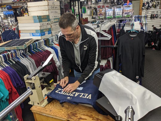 Store manager, Bobby Quine, said the landscape of sports and operating a sports equipment business has changed over the past several decades. Quine has been the manager at Ben's Verona Sports Center for 27 years.