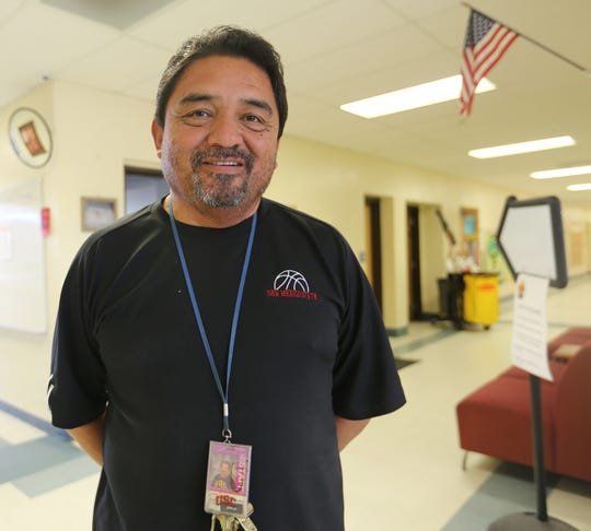 Physical Education Teacher Tommy Esparza at Central Elementary School, Wednesday Oct. 9, 2019.