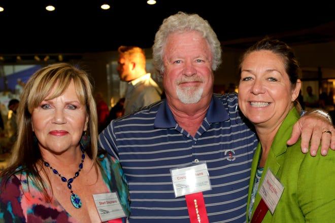 Benefactors Sheri and Craig Stephens with Organizational Benefactor Chevron representative Beverly Allen.