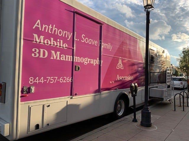 An Ascension mobile mammogram unit.