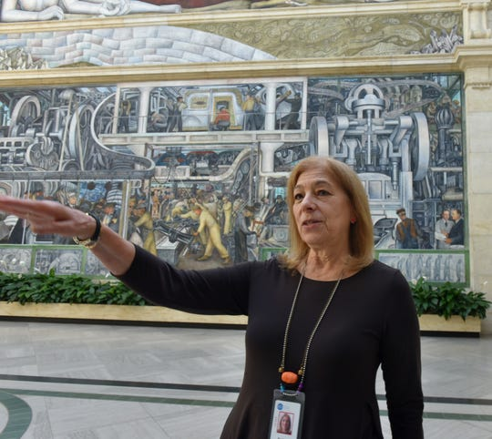 Barbara Heller was part of a team that cleaned the Detroit Industry frescoes in 1988. The effort took about six weeks to complete.