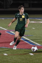 Max Reis scored for Howell in a 3-0 victory over Milford in a first-round district soccer game on Wednesday, Oct. 9, 2019.