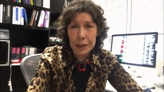 Lily Tomlin expressed support for Plaza Theatre restoration efforts in a YouTube video posted to the city's account on Wednesday.