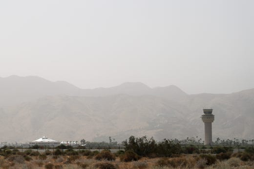 Thursday winds kick up dust, reduce visibility and harm air quality in Coachella Valley