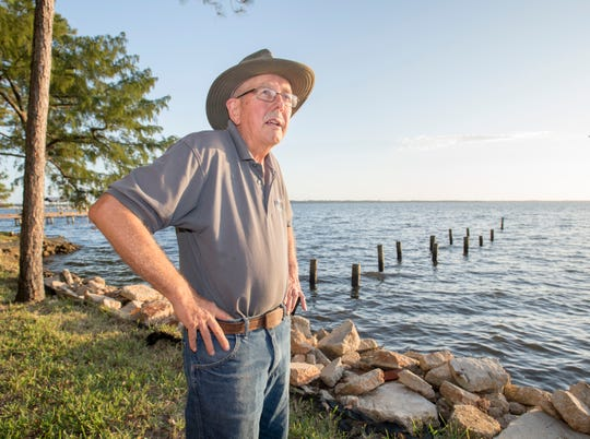 John Schleich, who has lived in Ramsey Beach since 1985, talks about the water quality of Perdido Bay.