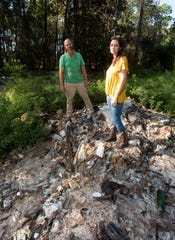 Jeff and Abbey Rodamaker bought six acres of secluded land off of U.S. 98 to build their dream home only to discover it was once used as a landfill.