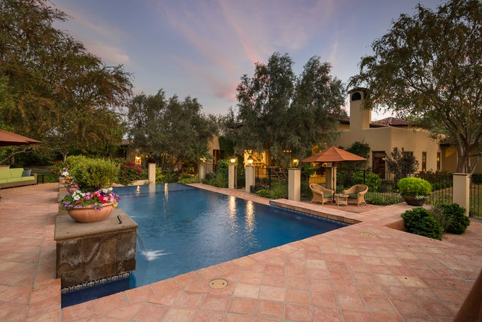 Julia and William Yarbrough paid $2.8 million for this mansion in Paradise Valley's Casa Blanca Estates community.