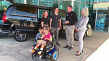 The Stedman family received a wheelchair-accessible van on Oct. 9 to help transport their 8-year-old who has cerebral palsy.