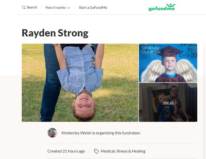 Rayden Ginsberg died after being struck by a truck in Phoenix.