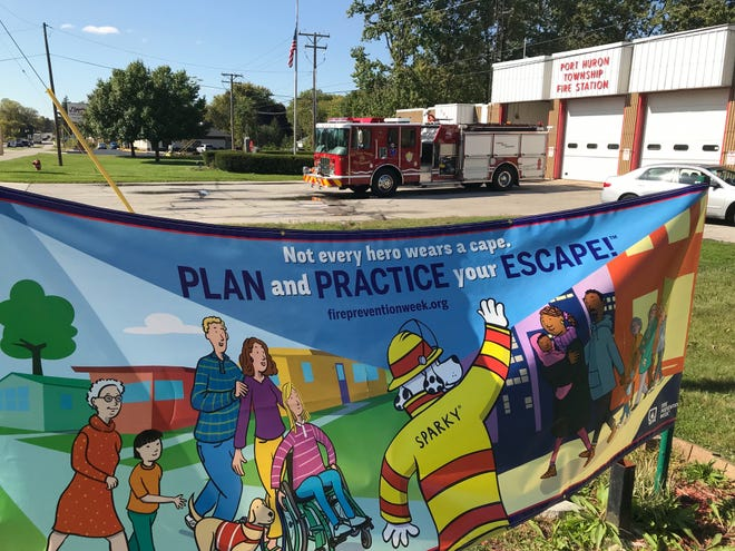 The Port Huron Township Fire Department participates in National Fire Prevention Week