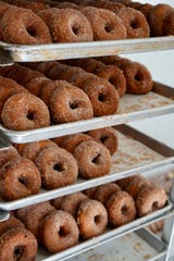 In addition to sweet and hard apple ciders, apple cider doughnuts are a seasonal favorite at Barton Orchards in Poughquag.