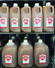 Meadowbrook Farm in Wappinger Falls presses sugar-free fresh apple cider on-site from a combination of its cider-ready apples.