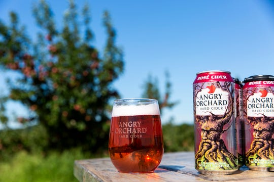 A favorite among Angry Orchard's hard ciders, the Rosé Cider Angry Orchard is made from red flesh apples from France.