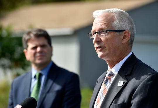 York Water Company CEO Jeff Hines comments on EPA plans for the first new lead regulations in 20 years and the company's efforts to replace all lead supply lines in York County, Thursday, October 10, 2019.John A. Pavoncello photo
