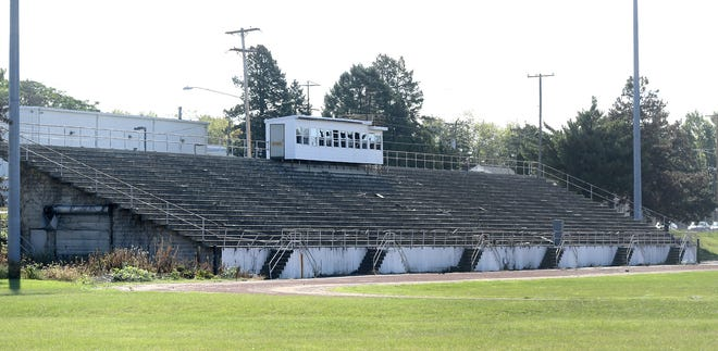 Property containing sports venues at the former Central York High School show signs of disuse Thursday, Oct. 10, 2019. Bill Kalina photozz
