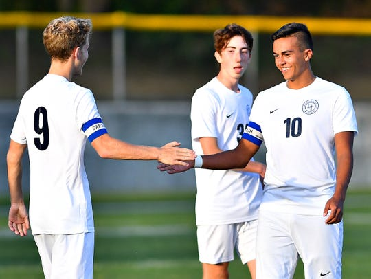 Dallastown vs Red Lion during boys' soccer action at Horn Field in Red Lion, Thursday, Oct. 10, 2019. Dallastown would win the game 3-2. Dawn J. Sagert photo