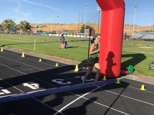 Damonte Ranch senior Carley Legenbauer won the girls varsity cross country race at the Reed Invitational on Oct 4.