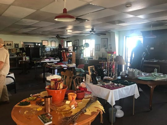 Trudy's Treasures, an antique shop in Shingletown, was open but didn't have power Wednesday because of the shutoff.