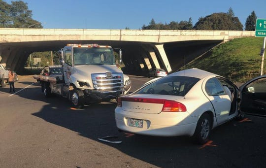 A driver died in a crash at the southbound I-5 off-ramp and Delaney Road Wednesday evening.