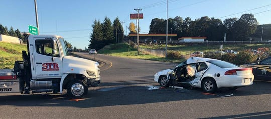 The driver of a Dodge Intrepid was killed after failing to stop at the intersection at southbound I-5 and Delaney Road Wednesday, October 10.