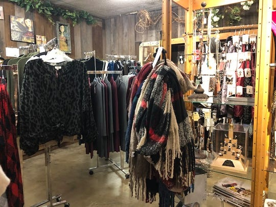 Olive's Nursery has a boutique side of the store where they sell clothing, accessories and jewelry.