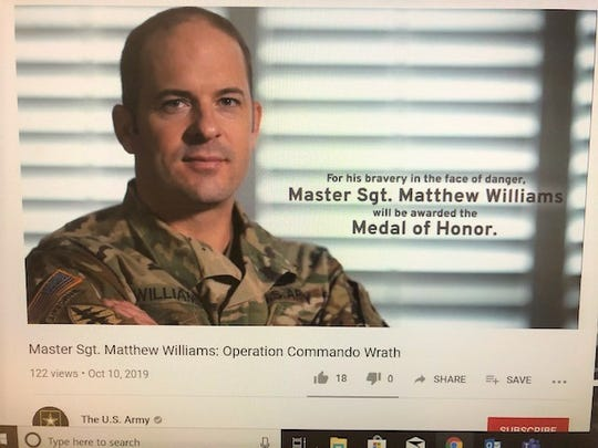 The U.S. Army Youtube page created a video composed of clips from Williams journey, commending his service.