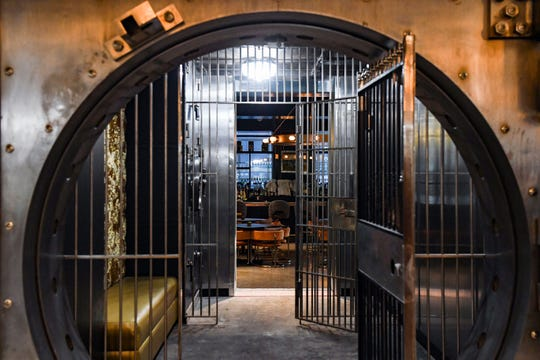 An old bank vault is now the doorway between the Hotel on Phillips and the Treasury in Sioux Falls.