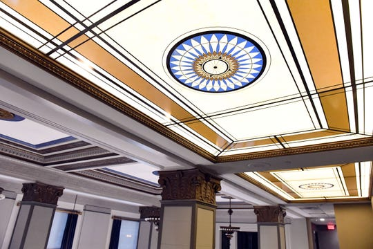 The Hotel on Phillips redesign includes lighting fixtures replicating old skylights from previous iterations of the building.