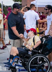 Sam Donaway was diagnosed with cerebral palsy in 2007 and, now 13, will sign with the FSU Swimming and Diving team Saturday.