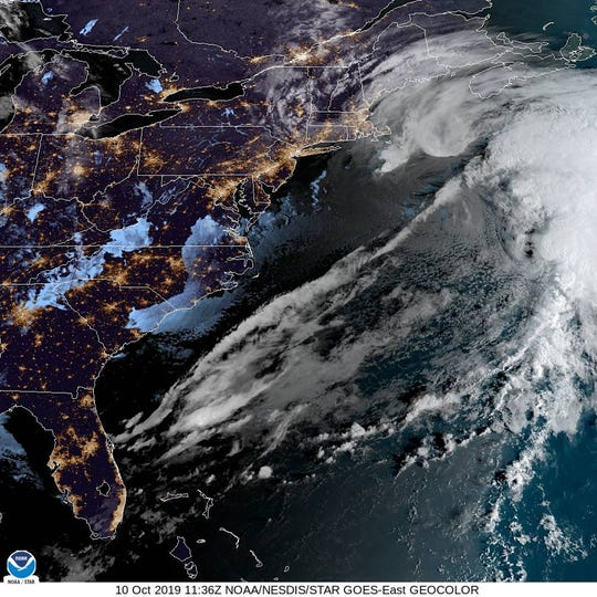 Multiple storms will consolidate into one storm, which will strengthen and stall just offshore of the Atlantic coast through late in the week.