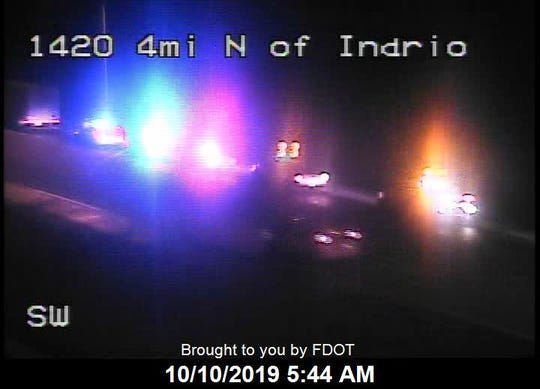 A crash with injuries was reported on Interstate 95 north of Indrio Road Oct. 10, 2019.