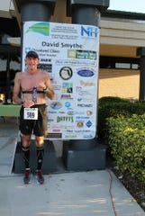 Master's Male Winner Dale Ruby following his 22:17 minute run at the Race for Recovery 5K Run/Walk at Indian River State College Pruitt Campus.