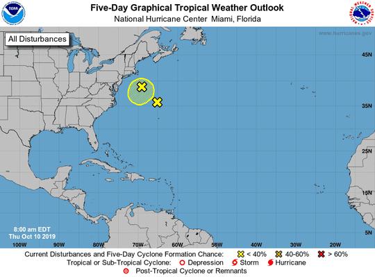 Tropics 8 a.m. Oct. 10, 2019