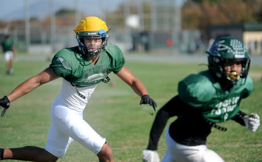 Linebacker Caleb McCullough, who has 66 tackles in six games for Pacifica this season, has been heavily recruited by big-time Division I college football programs.