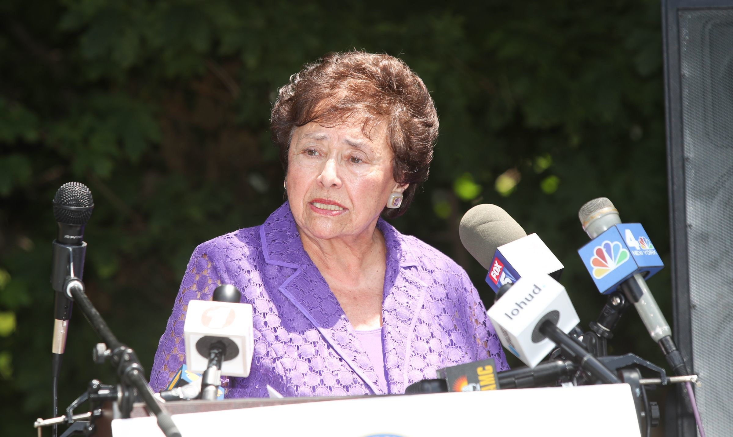 Congresswoman Nita Lowey holds a press conference after touring Children's Village in Dobbs Ferry on Friday, June 29, 2018.