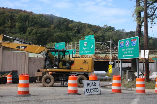 The South Broadway entrance to the New York State Thruway in Nyack closed Thursday, Oct. 10, 2019.