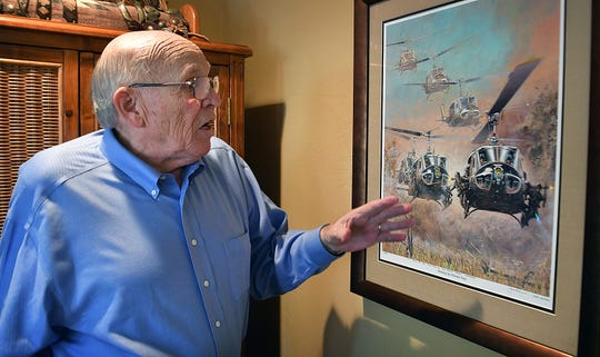Kenn Hill flew helicopters for the U.S. Army during two tours in the Vietnam War. Hill will participate in an Honor Flight in November that takes war heroes to Washington D.C. where they can visit their memorials.